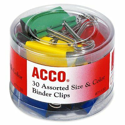 Acco Colored Binder Clips - Assorted - Assorted (ACC71130)