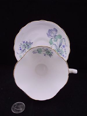 Squarewhite Gold And Blue Floral Hammersley Co Bone China Cabinet Cup And Saucer