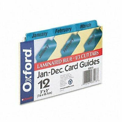 Oxford Laminated Tab Index Card Guides - 12 X Divider[s] - Printed January To