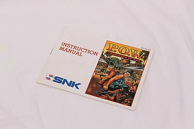 Nintendo NES - P.O.W. Prisoners of War  - Manual Only