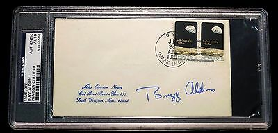 Buzz Aldrin Signed Apollo 11 Cover, PSA DNA, Postmarked 1969, Vintage Auto RARE