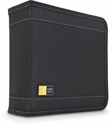 Case Logic 32 Capacity Cd Wallet - Book Fold - Nylon - Black - 32 Cd/dvd (CDW32)