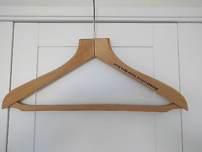 Vintage wooden hotel coat hanger - Hyde Park Hotel, Knightsbridge, London