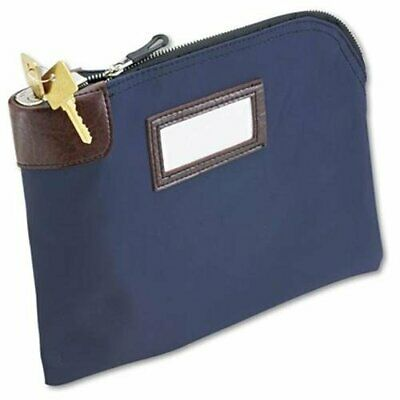 """Mmf Currency Bag With Built-in Lock - 11"""" X 8.50"""" - Nylon - 1each - Blue"""