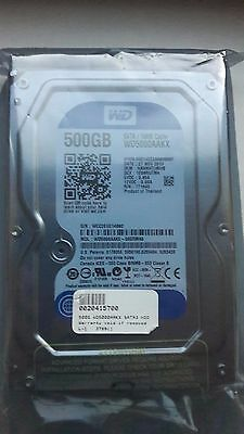 "Western Digital Caviar Blue  500GB,Internal,7200RPM 3.5"" WD5000AAKX New & Sealed"