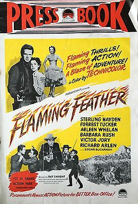 Paramount 1952 Western Film 'Flaming Feather' Original Press Book