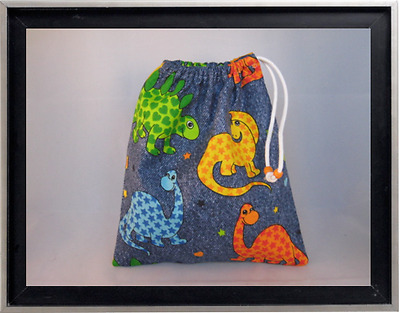 Gymnastics Leotard Grip Bags / Denim Dinosaurs Gymnast Birthday Goody Bag