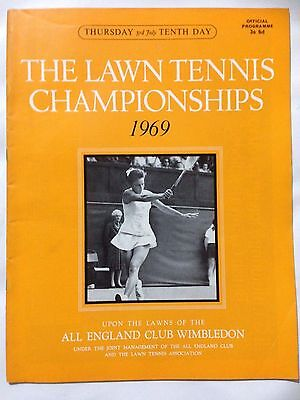 WIMBLEDON Lawn Tennis Championships Official Programme. July 3rd 1969, Day 10