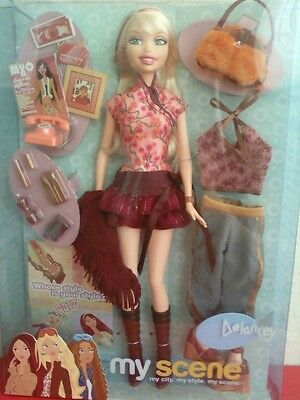 My Scene Feelin Flirty Delancey Barbie Doll Extra Clothes & Accessories New Rare