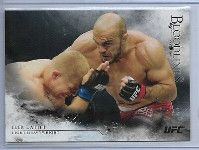 ILIR LATIFI 2014 TOPPS Bloodlines #81 UFC ONYX 13/25 Black ALBANIA FLAG Gem Mint