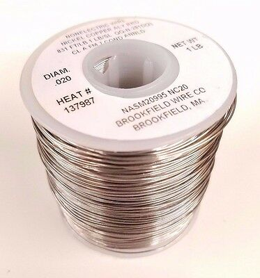 Fishing Leader Line, Solid Monel Trolling Wire, 30Lb, 831' Ft .020 Diameter, USA