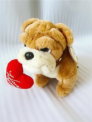 KEEL Simply Soft Collection 20cm Long British Bulldog With Red Heart