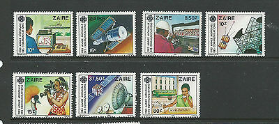 Zaire 1983 World Communications Year set of 7 Stamps complete MUH/MNH