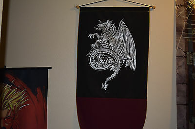 Medieval Dragon Power Tapestry Renaissance Wall Hanging Banner