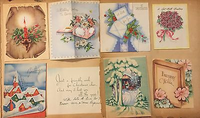 Vintage Christmas Card Lot Of 129 Birthday Valentine's Day
