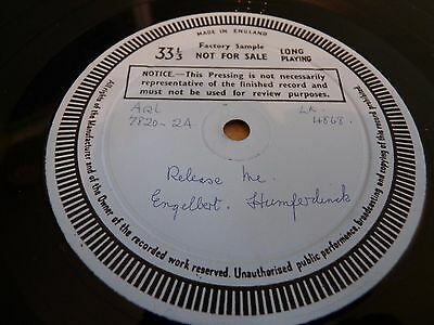 Engelbert Humperdink  - Release Me - Decca Single Side Factory Test Pressing