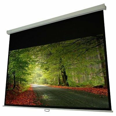 """Elunevision Atlas Manual Projection Screen - 92"""" - 16:9 - Wall/ceiling Mount -"""