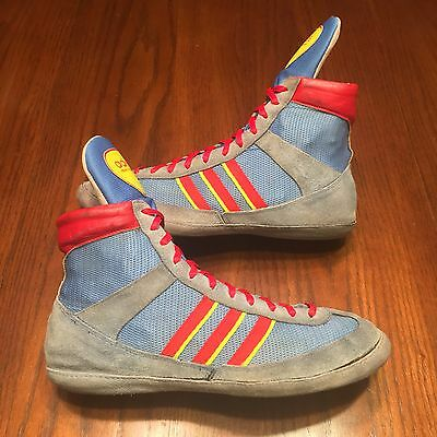 RARE Adidas Blue '88 Combat Speed Wrestling Shoes - For 10.5-11
