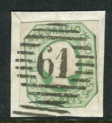 PORTUGAL;  1855-7 classic Pedro Imperf issue fine used 50r. Postmark Piece