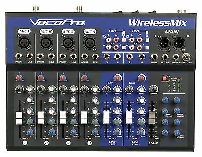 Vocopro WIRELESSMIXULTRA Karaoke Mixer W 4 Wireless Mic B