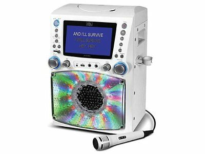 The Singing Machine Stvg785w Classic Series Cd/cd+g/mp3+g Karaoke Player With