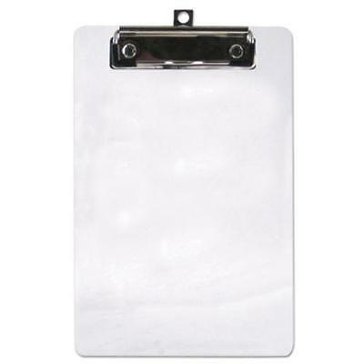 """Saunders 00516 Plastic Clipboard, 1/2"""" Capacity, 6 X 9 Sheets, Clear"""