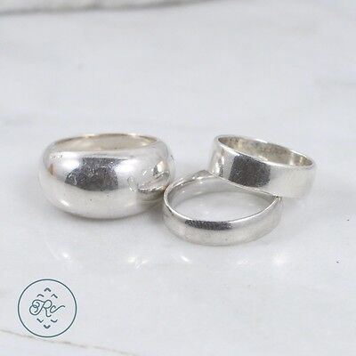Sterling Silver | (QTY 3) Assorted Band Rings SILPADA 18.9g | Lot MU4513