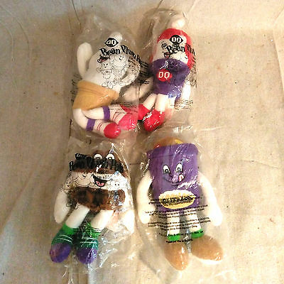1999 Dairy Queen DQ Bean Plush Pals Set of 4 - Sealed