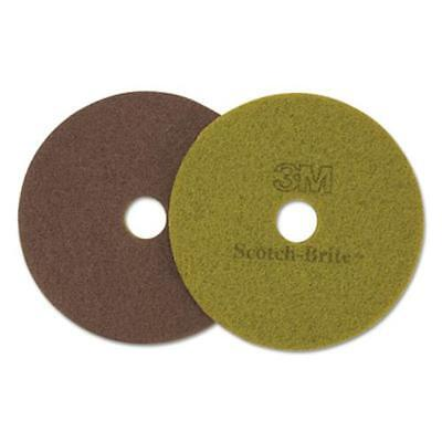 "3m 10045 Diamond Floor Pads, 16"" Diameter, Sienna, 5/carton"