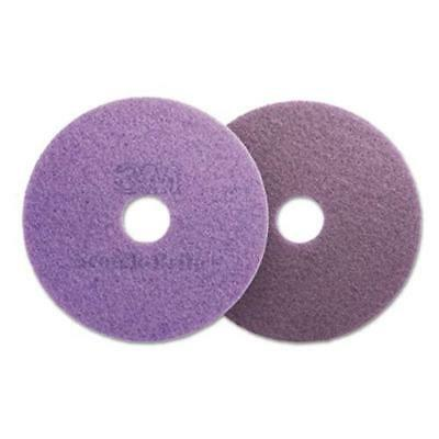 "3m 48196 Diamond Floor Pads, 19"" Diameter, Purple, 5/carton"