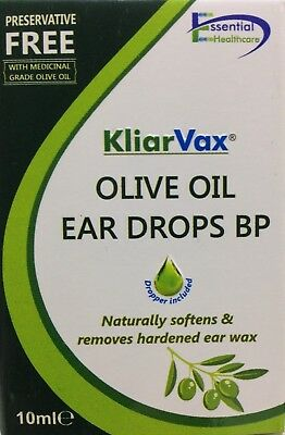 OLIVE OIL EAR DROPS 10ml for earwax removal BUY 2 GET 1 FREE UK PRODUCT