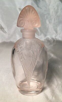 Rare Vintage Silvestri Pink Glass Perfume Bottle w/ Stopper Nude Woman EVC
