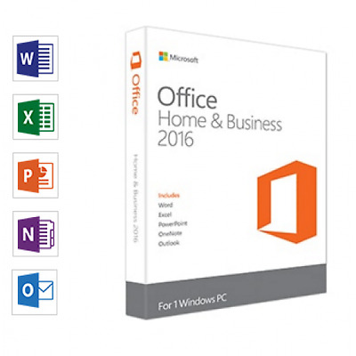 Microsoft Office Home and Business 2016 1PC Fast Deliver ARP £215