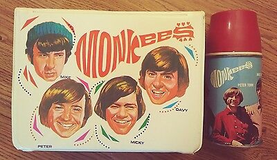The Monkees vinyl LunchBox & Thermos US 1967 in ex cond King-Seely Thermos Co.