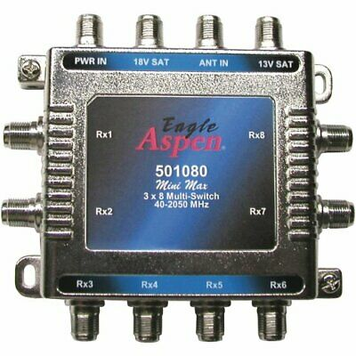 Eagle Aspen 501080 3-in X 8-out Multi-switch With Optional Power Supply Port