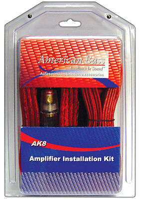 American Bass AK8 Amplifier Wiring Kit 8 Gauge American Bass