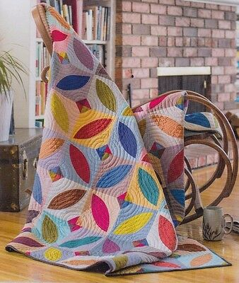 Orange Blossom - pieced quilt PATTERN in multiple sizes - Plum Easy Patterns