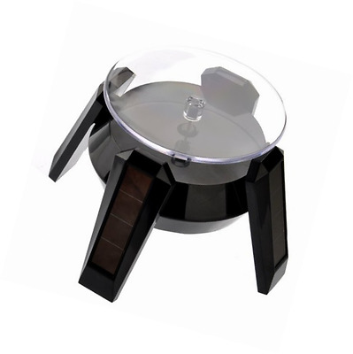 VORCOOL 360-degree Rotating Display Stand - Solar or AA Battery Powered (Black)