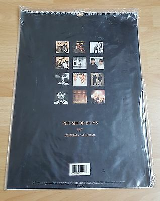 Pet Shop Boys, rare OFFICIAL CALENDAR 1987/ UK SEALED!