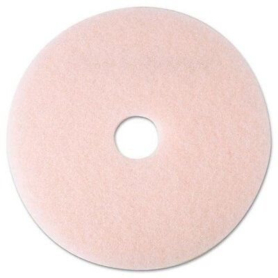 "3M/COMMERCIAL TAPE DIV. 25857 Eraser Burnish Floor Pad 3600, 19"", Pink, 5"