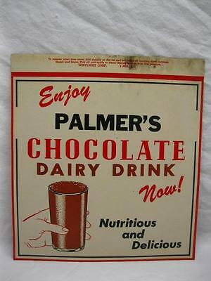 Palmers Middlebury Vermont Sticker Label Decal Sign Milk Bottle Vtg Old Antique