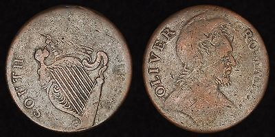 ENGLAND GB UK - ca. 1790s 1/2 Penny Conder Token - South Wales & Oliver Cromwell
