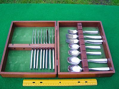 Vintage 37 pc Set Lauffer BEDFORD Stainless Plus Case, Holland