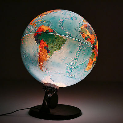 Vintage 1972 SCAN GLOBE A/S DENMARK Terrestrial Lighted Earth Lamp