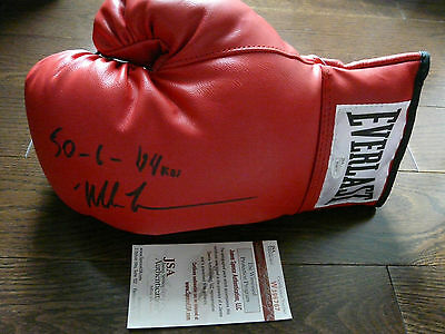 "Mike Tyson Autographed Everlast Boxing Glove -""50-6-44KOs"" Inscription JSA"