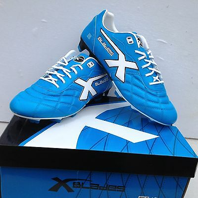 X  Blades Mens Legend Elite Sp Football / Soccer Blue Boots Sz 11 Usa 10.  Uk