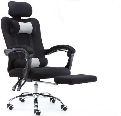 Executive Computer Gaming Office Chair Ergonomic Reclining Footrest Padded