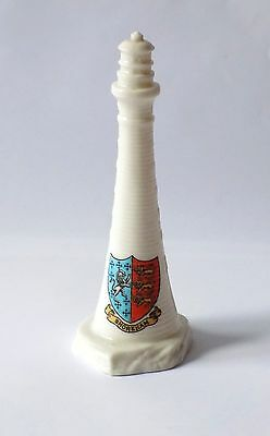 Vintage Goss Crested Ware Lighthouse. Coat Of Arms Shoreham .r.d.no 602906,1912