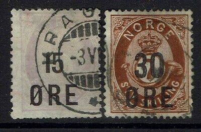 Norway SC# 62 and 63, Used, Hinge Remnant, 63 Heavy Hinge Remnant -  Lot 030517