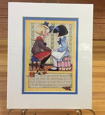 "Mary Engelbreit Matted Print 1998 Sort of Friend New in Package 8"" x 10"""